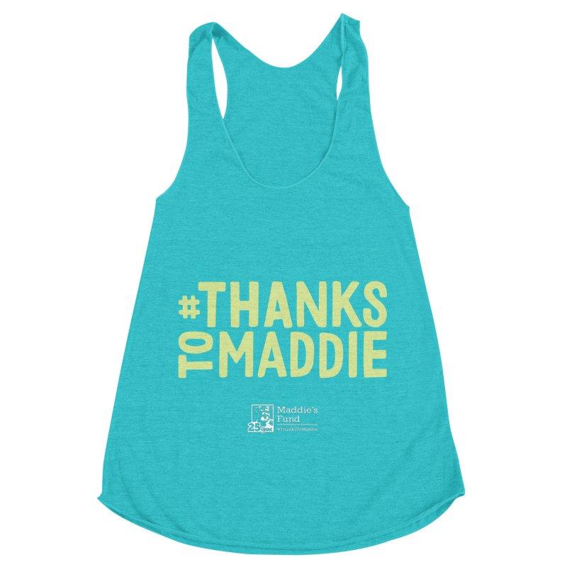 #ThanksToMaddie Dark Colors Women's Racerback Triblend Tank by Maddie Shop