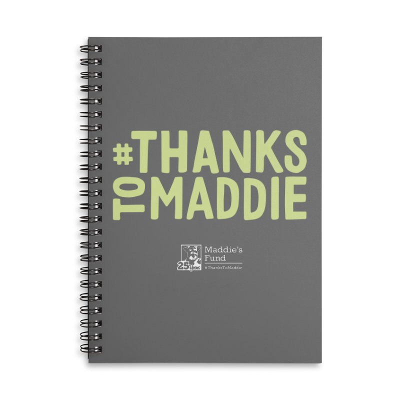 #ThanksToMaddie Dark Colors Accessories Lined Spiral Notebook by Maddie Shop