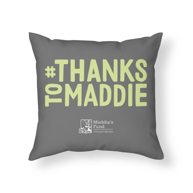 #ThanksToMaddie Dark Colors Home Throw Pillow by Maddie Shop