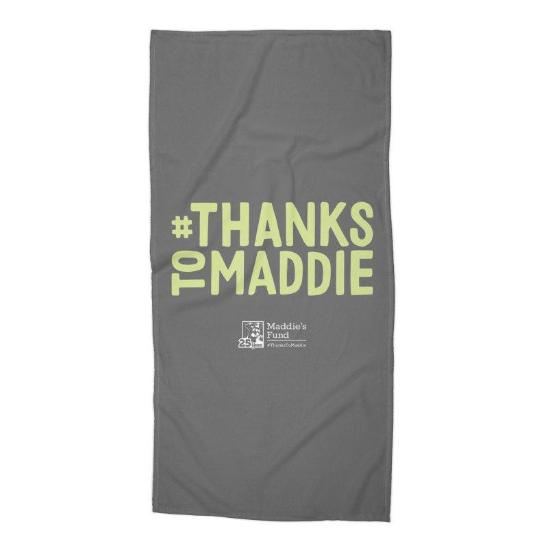 #ThanksToMaddie Dark Colors Accessories Beach Towel by Maddie Shop