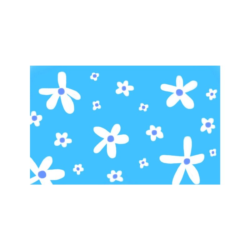 Daisy in Blue - Variation 2 Home Rug by maddiewiththeglasses's Artist Shop