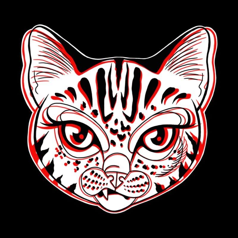 Snarky Cat Black and Red by madebyjenblack's Artist Shop