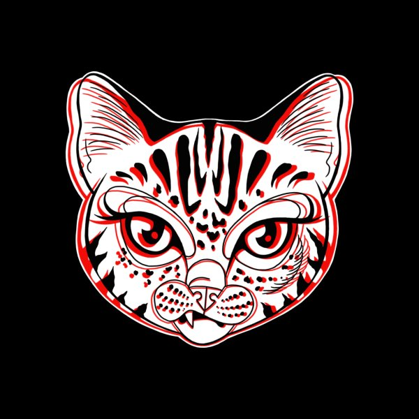 image for Snarky Cat Black and Red
