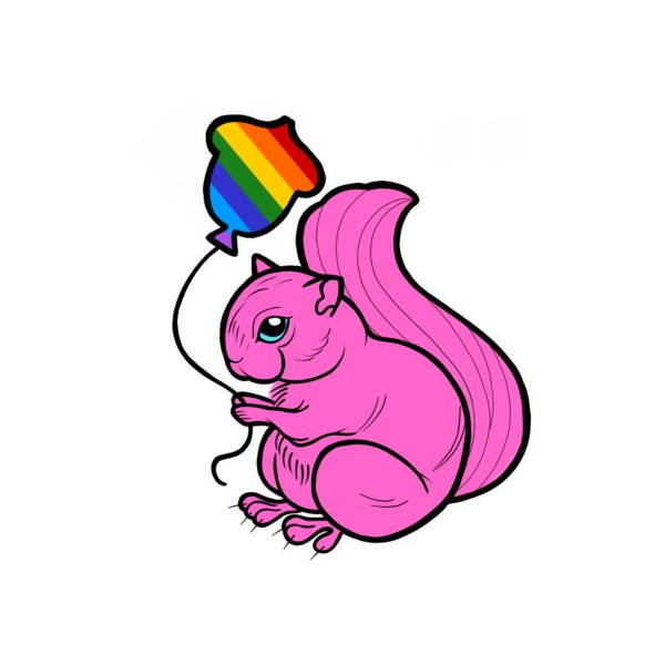 image for Pink Pride Squirrel