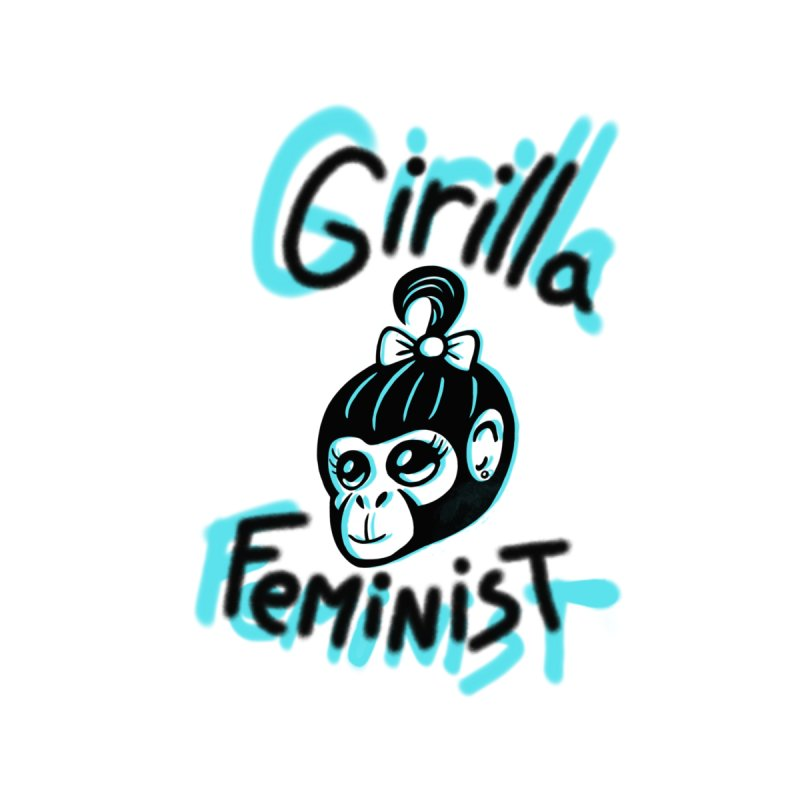 Girilla Feminist with blue by madebyjenblack's Artist Shop