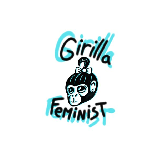 image for Girilla Feminist with blue