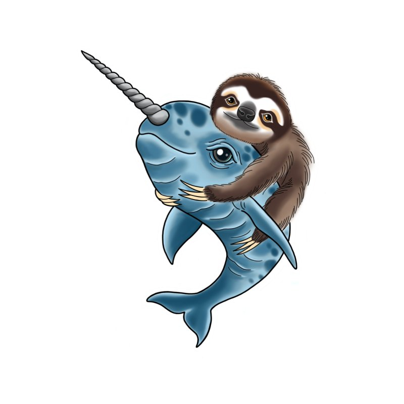 Sloth and Narwhal Pals by madebyjenblack's Artist Shop