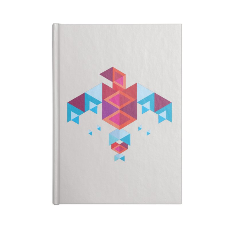 Geometric Bird Accessories Notebook by Made by Siam