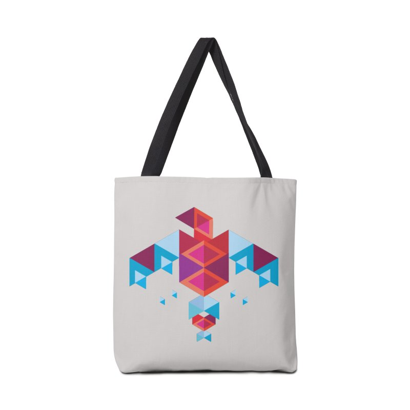 Geometric Bird Accessories Bag by Made by Siam