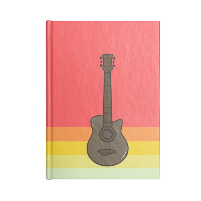 Retro Guitar Accessories Notebook by Made by Siam