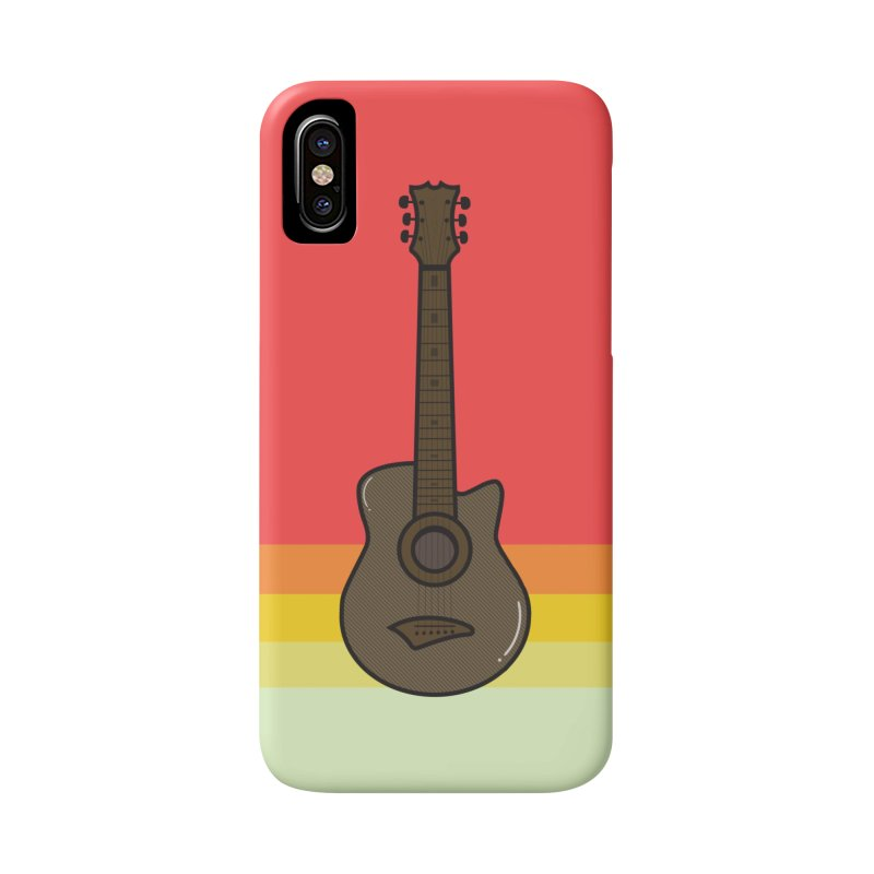 Retro Guitar Accessories Phone Case by Made by Siam
