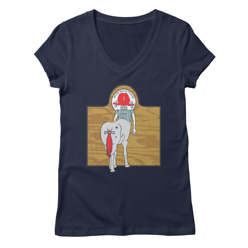 Wendy Women's V-Neck by madhousetees's Artist Shop