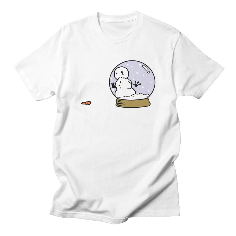 Snowman Men's Regular T-Shirt by madhousetees's Artist Shop