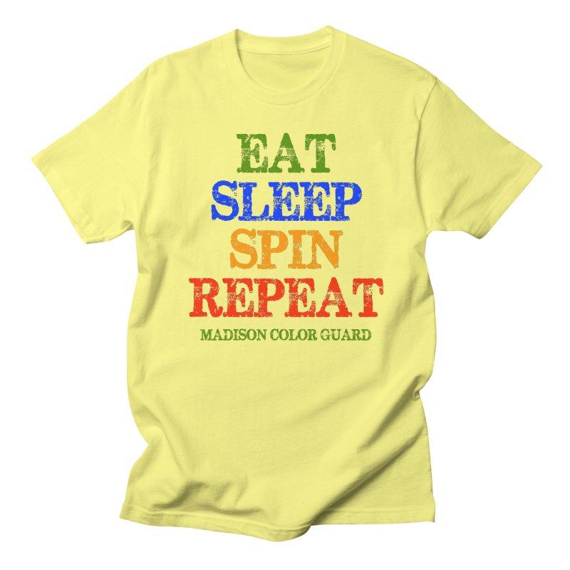Eat Sleep Spin Repeat light shirt in Men's T-Shirt Lemon by MadisonArts Online Shop
