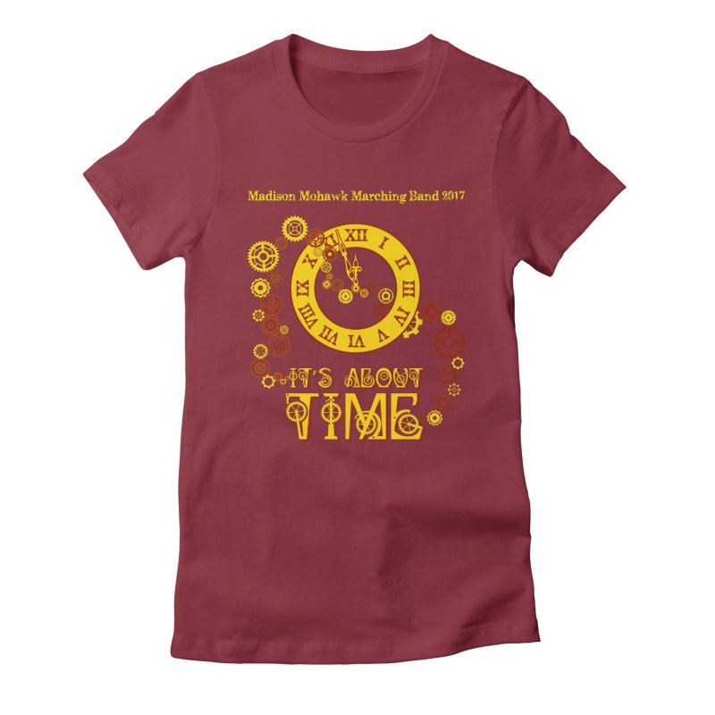 It's About Time in Women's Fitted T-Shirt Scarlet Red by MadisonArts Online Shop