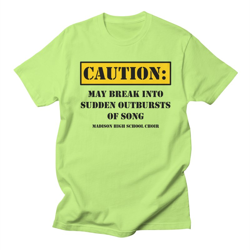 Caution: Outbursts in Men's T-Shirt Neon Green by MadisonArts Online Shop