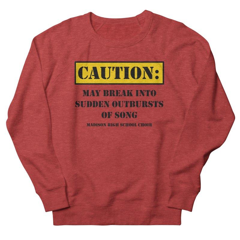 Caution: Outbursts in Women's Sweatshirt Heather Red by MadisonArts Online Shop