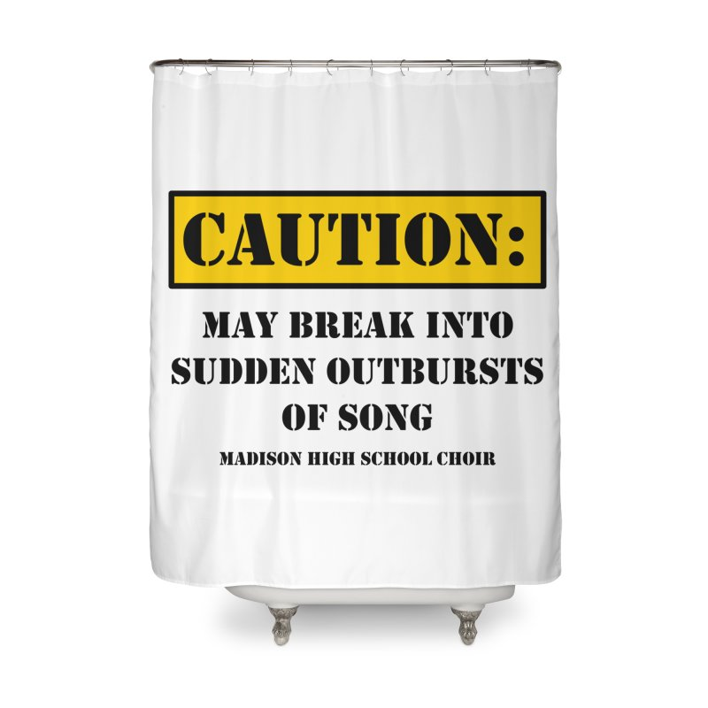 Caution: Outbursts in Shower Curtain by MadisonArts Online Shop