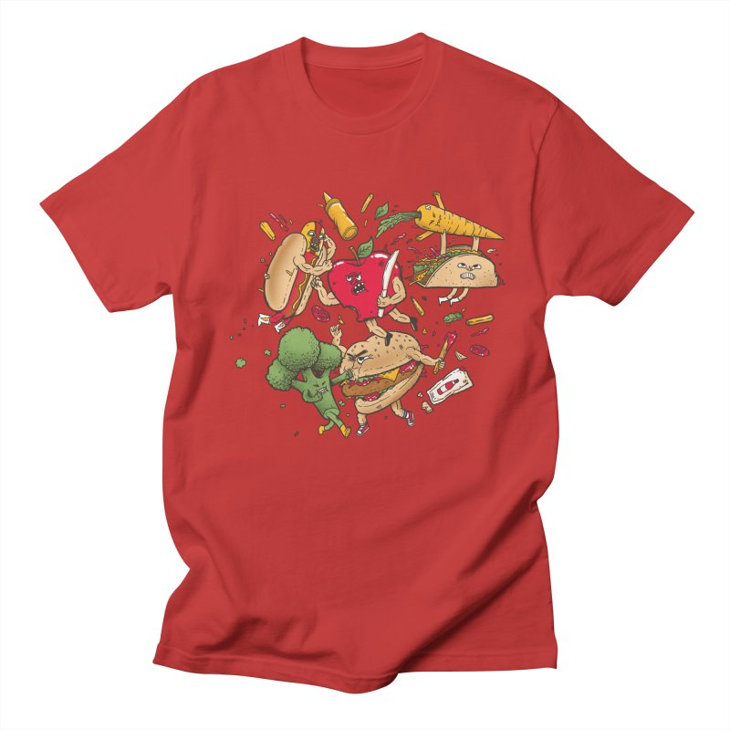 Food Fight Men's Regular T-Shirt by MadKobra