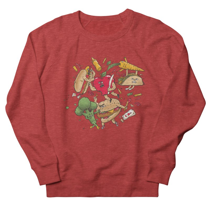Food Fight Women's Sweatshirt by MadKobra