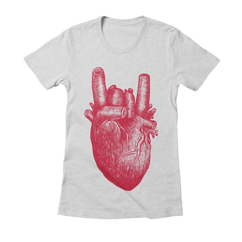 Party heart Women's Fitted T-Shirt by MadKobra