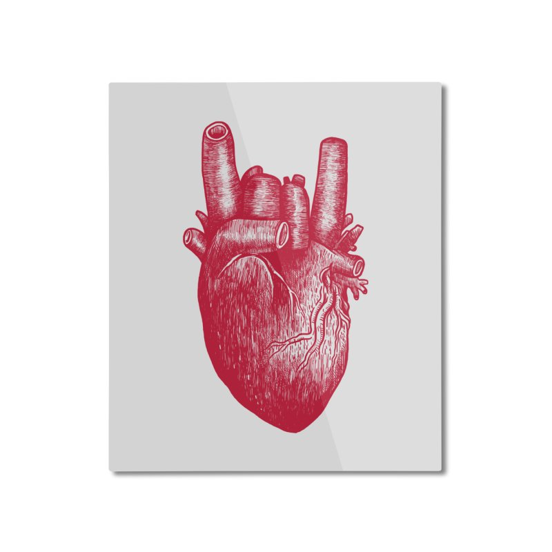 Party heart Home Mounted Aluminum Print by MadKobra