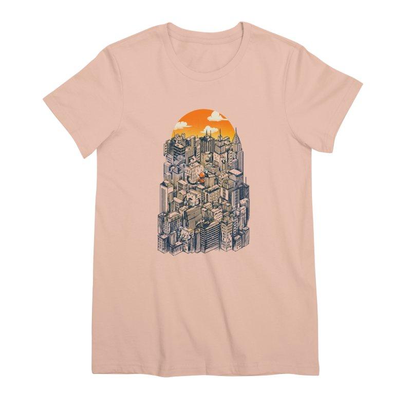 The city that never sleeps takes a break Women's Premium T-Shirt by MadKobra