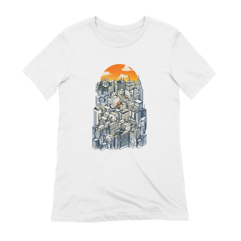 The city that never sleeps takes a break Women's Extra Soft T-Shirt by MadKobra