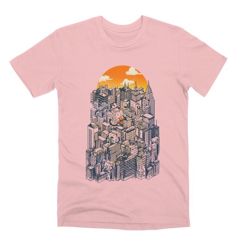The city that never sleeps takes a break Men's Premium T-Shirt by MadKobra