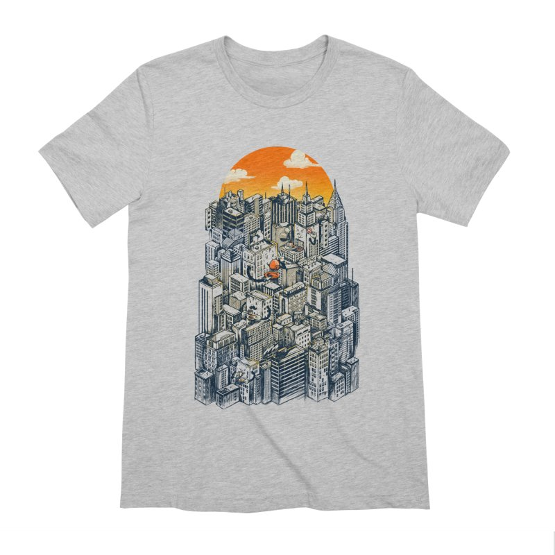 The city that never sleeps takes a break Men's Extra Soft T-Shirt by MadKobra