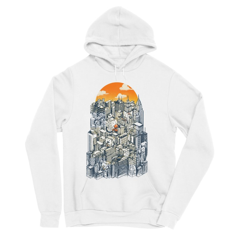 The city that never sleeps takes a break Men's Sponge Fleece Pullover Hoody by MadKobra