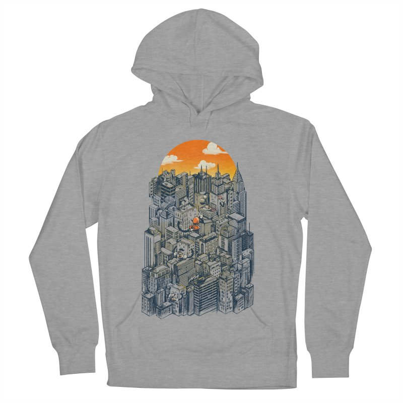 The city that never sleeps takes a break Women's French Terry Pullover Hoody by MadKobra