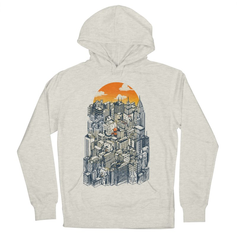 The city that never sleeps takes a break Men's French Terry Pullover Hoody by MadKobra