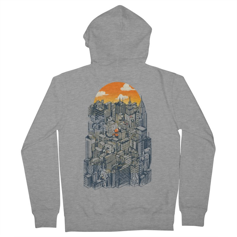 The city that never sleeps takes a break Men's French Terry Zip-Up Hoody by MadKobra
