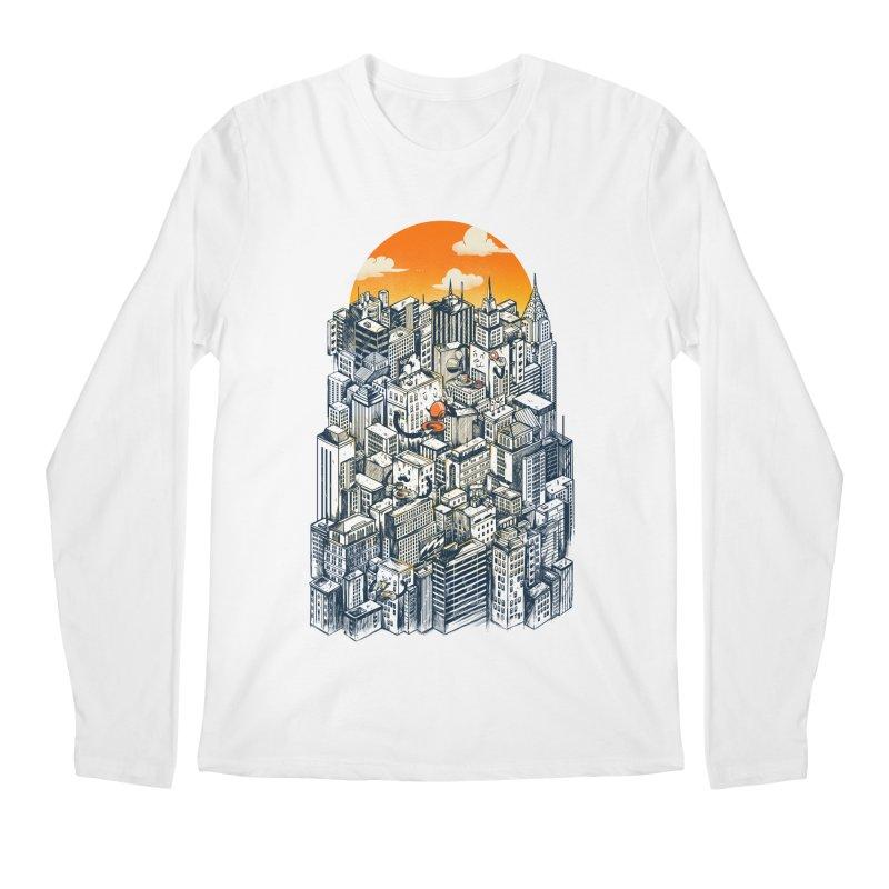 The city that never sleeps takes a break Men's Regular Longsleeve T-Shirt by MadKobra