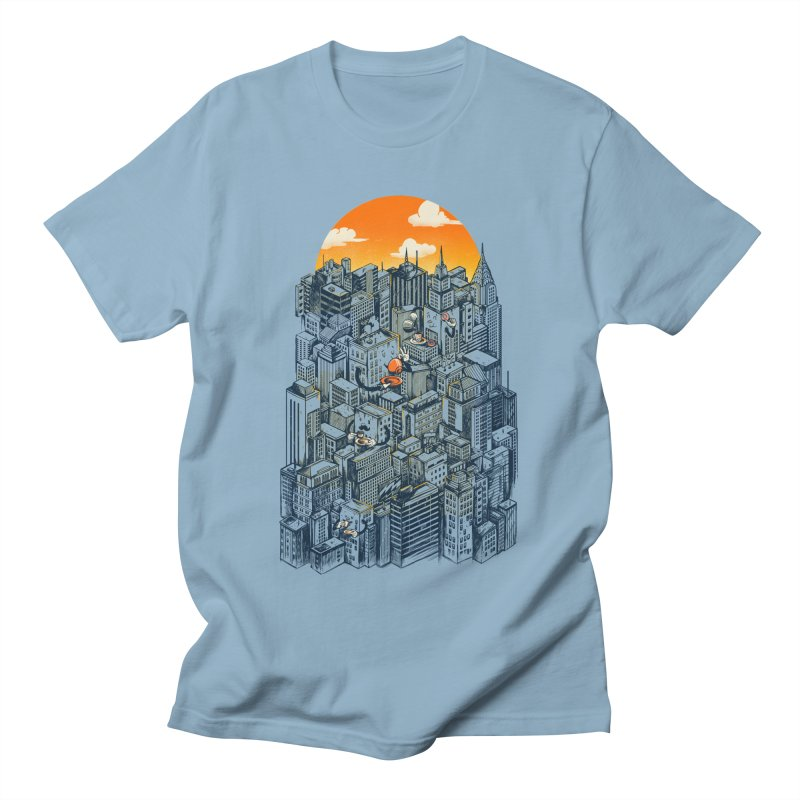 The city that never sleeps takes a break Men's Regular T-Shirt by MadKobra