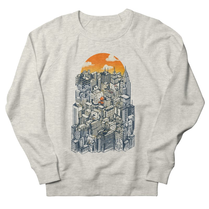 The city that never sleeps takes a break Women's French Terry Sweatshirt by MadKobra