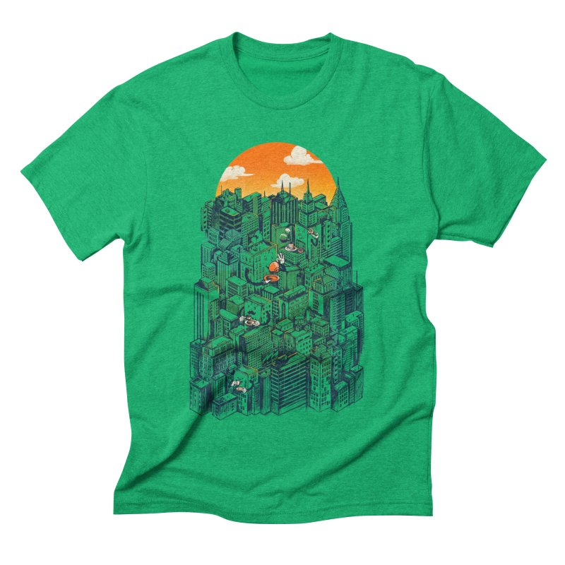The city that never sleeps takes a break Men's Triblend T-Shirt by MadKobra
