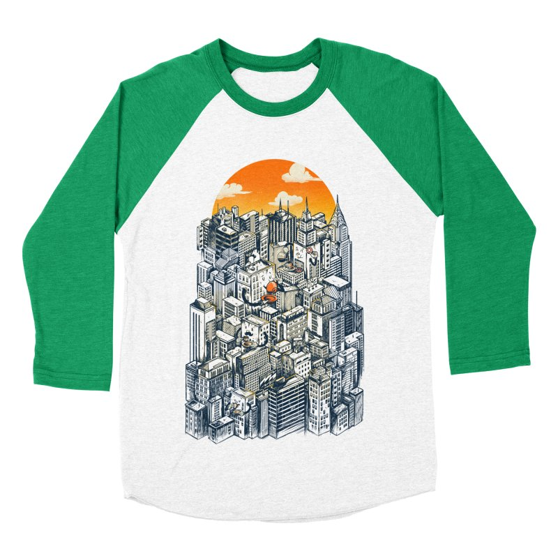 The city that never sleeps takes a break Men's Baseball Triblend Longsleeve T-Shirt by MadKobra