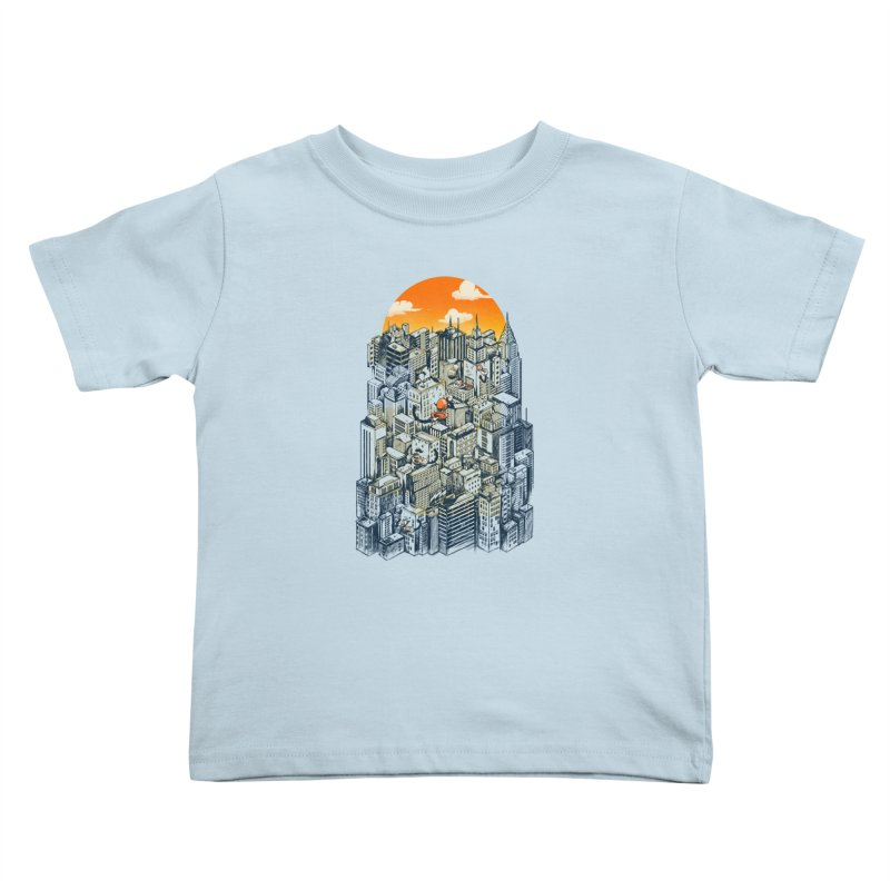The city that never sleeps takes a break Kids Toddler T-Shirt by MadKobra