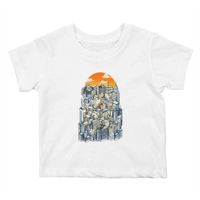The city that never sleeps takes a break Kids Baby T-Shirt by MadKobra