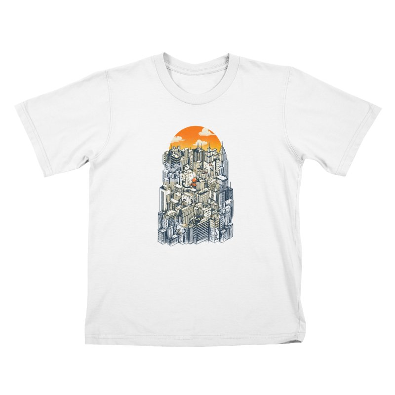 The city that never sleeps takes a break Kids T-Shirt by MadKobra