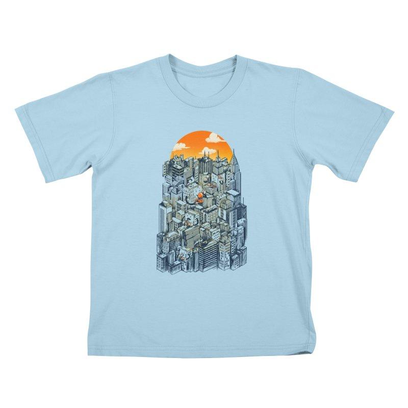 The city that never sleeps takes a break Kids T-Shirt by MadKobra