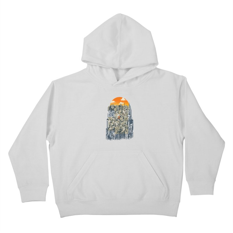 The city that never sleeps takes a break Kids Pullover Hoody by MadKobra