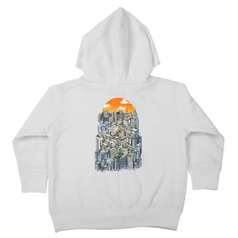The city that never sleeps takes a break Kids Toddler Zip-Up Hoody by MadKobra