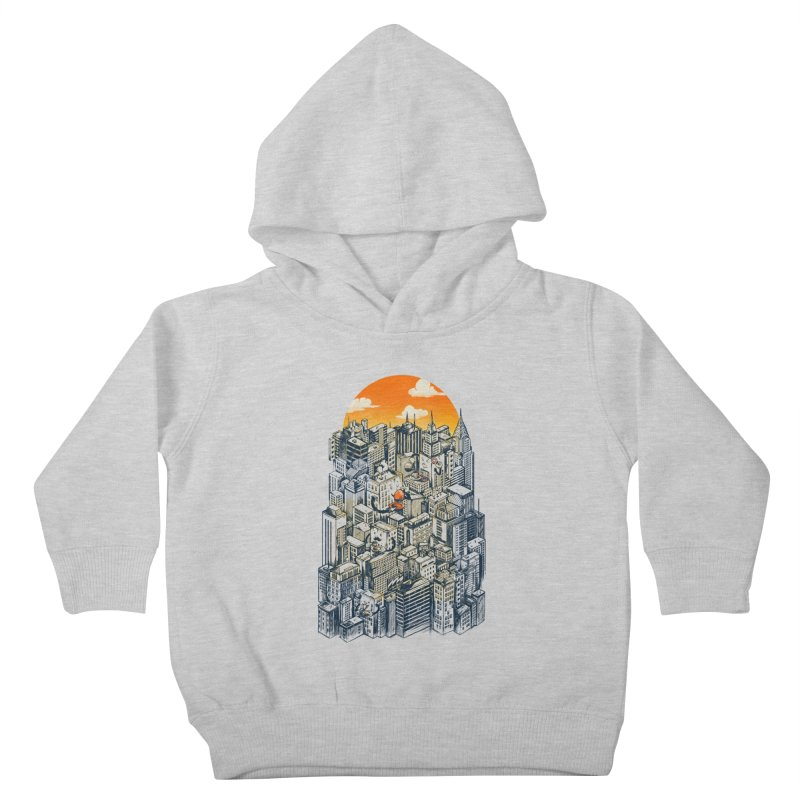 The city that never sleeps takes a break Kids Toddler Pullover Hoody by MadKobra
