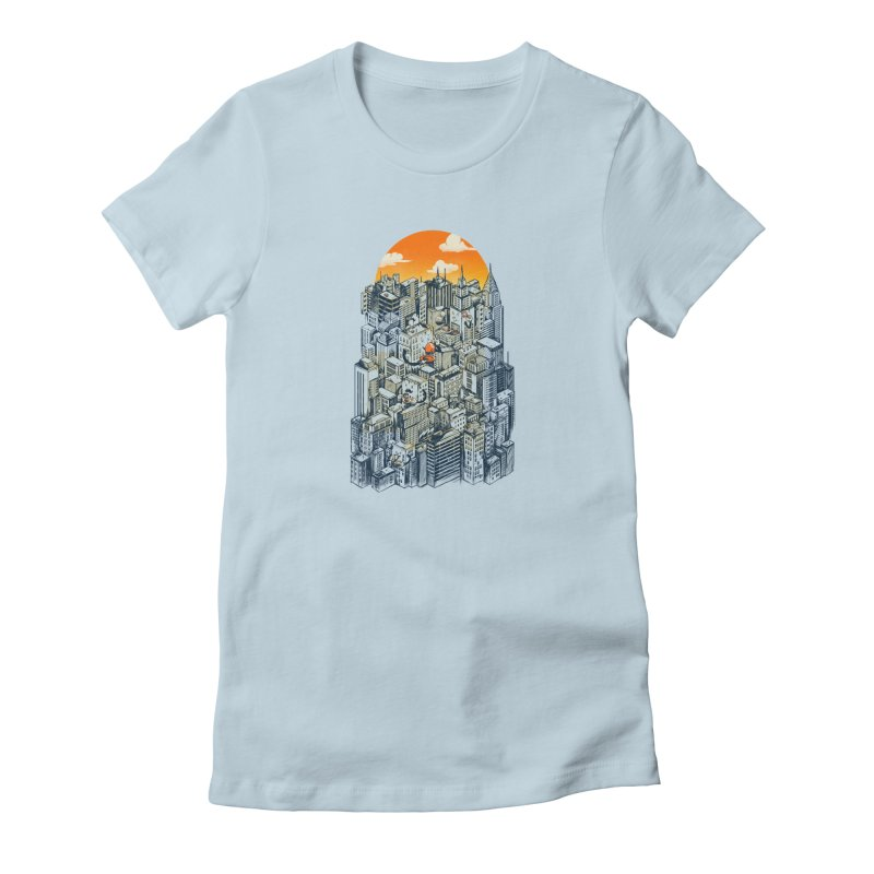 The city that never sleeps takes a break Women's T-Shirt by MadKobra