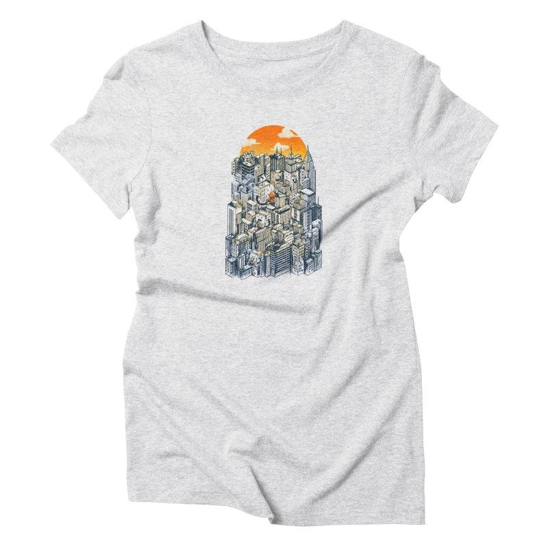 The city that never sleeps takes a break Women's T-Shirt by MadKobra