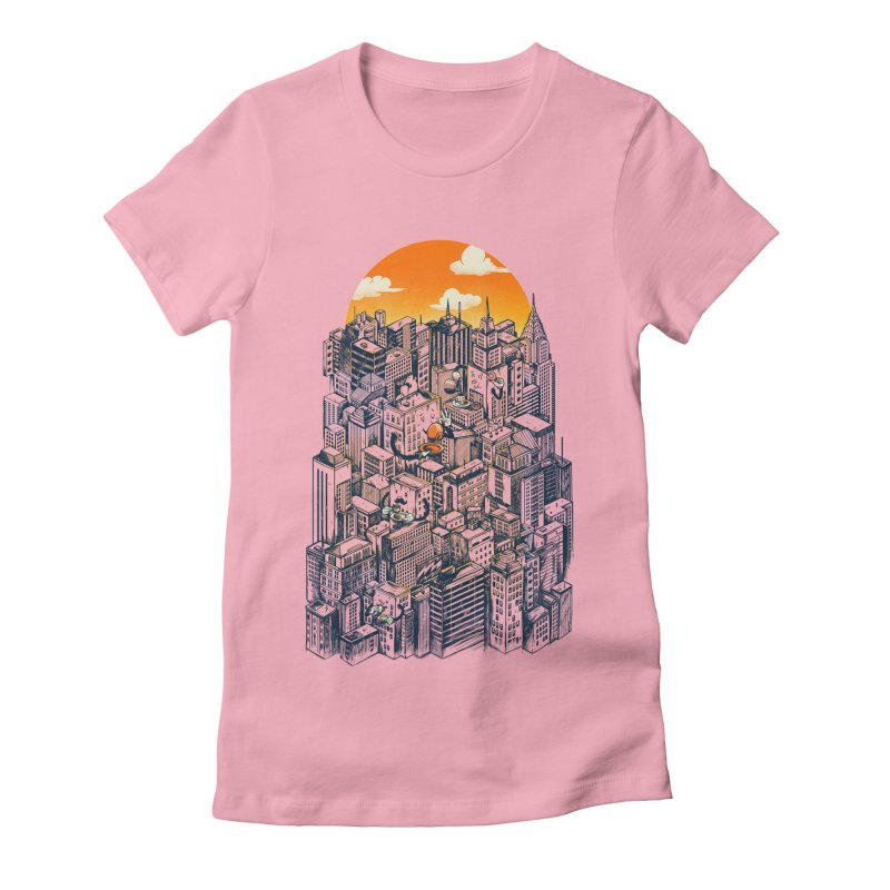 The city that never sleeps takes a break Women's Fitted T-Shirt by MadKobra
