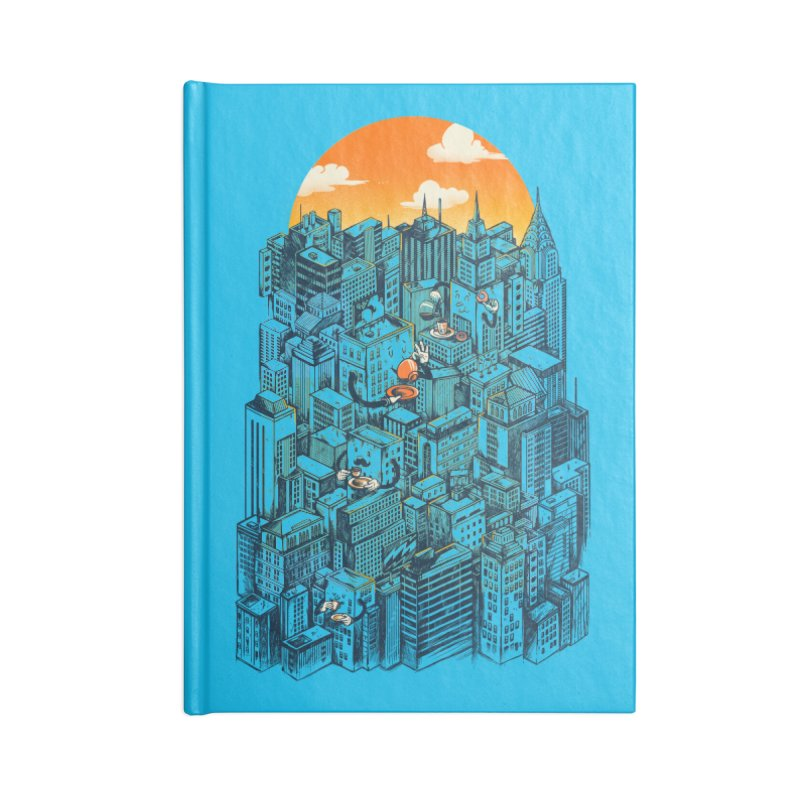 The city that never sleeps takes a break Accessories Lined Journal Notebook by MadKobra